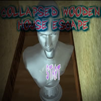 Collapsed Wooden House escape