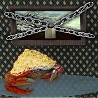 Escape of Spaghetti Crab