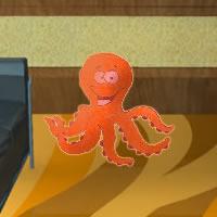 Orange Octopus escape