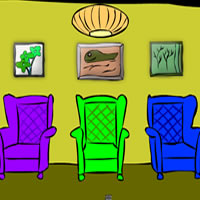 Three Cartoon Chairs Room Escape