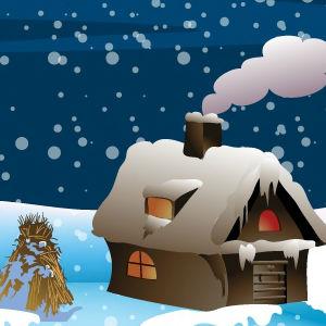 Mysterious Snowfall Night